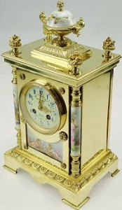 Carriage clock gold restoration